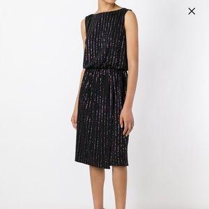 NWT Marc Jacobs Pinstripe Glitter Dress Size S